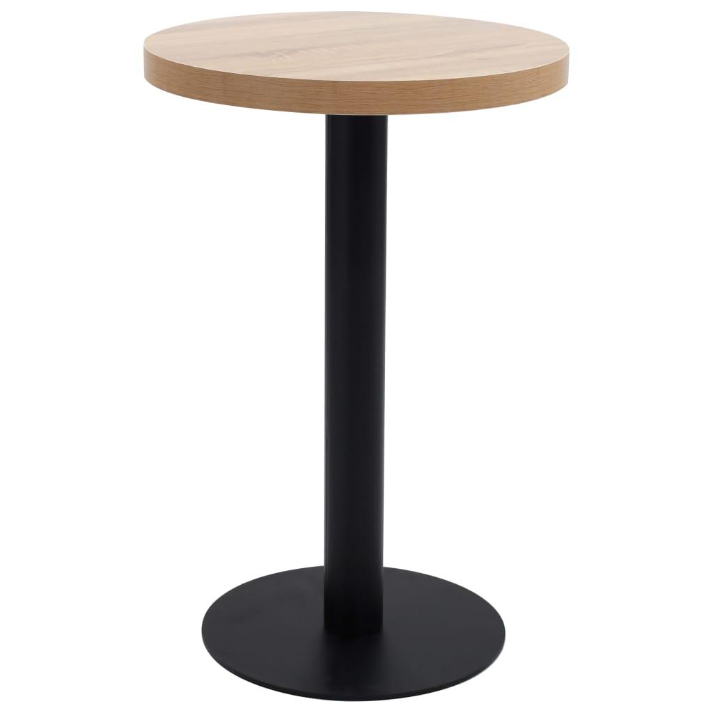 Bistro stolek světle hnědý 50 cm MDF
