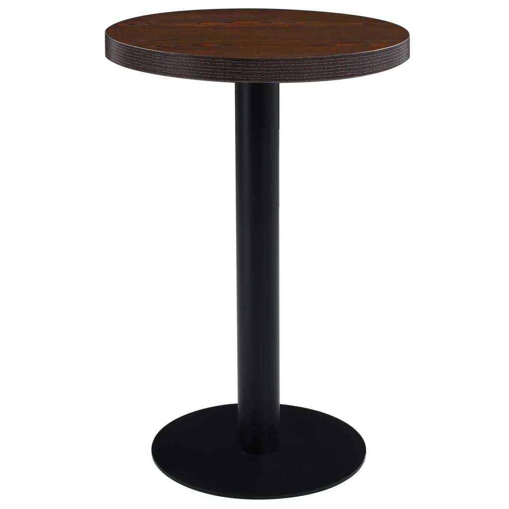 Bistro stolek tmavě hnědý 50 cm MDF
