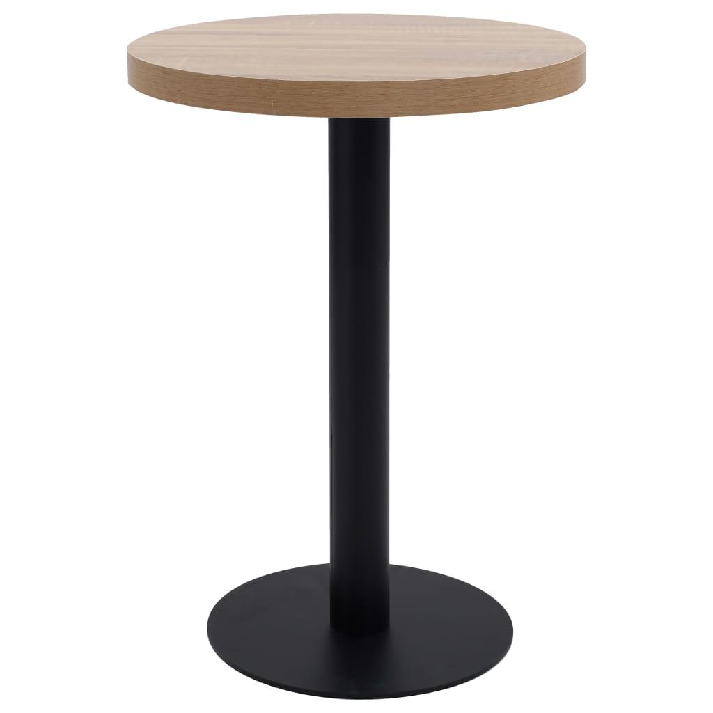 Bistro stolek světle hnědý 60 cm MDF