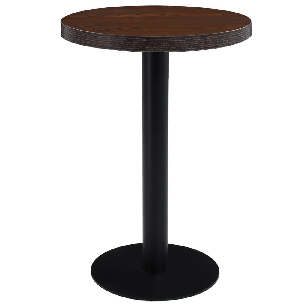 vidaXL Bistro stolek tmavě hnědý 60 cm MDF