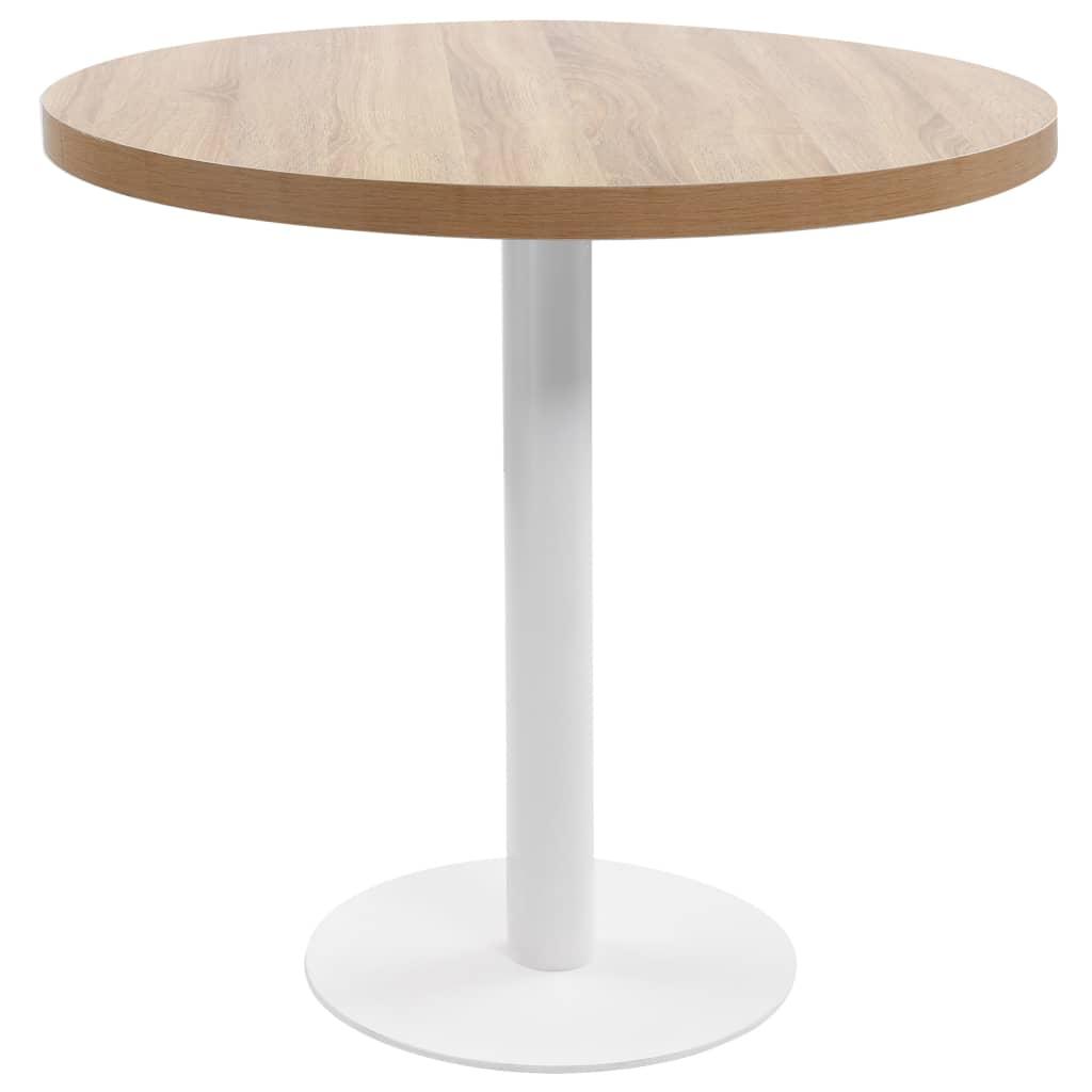 Bistro stolek světle hnědý 80 cm MDF