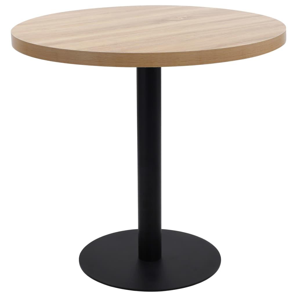 vidaXL Table de bistro Marron clair 80 cm MDF