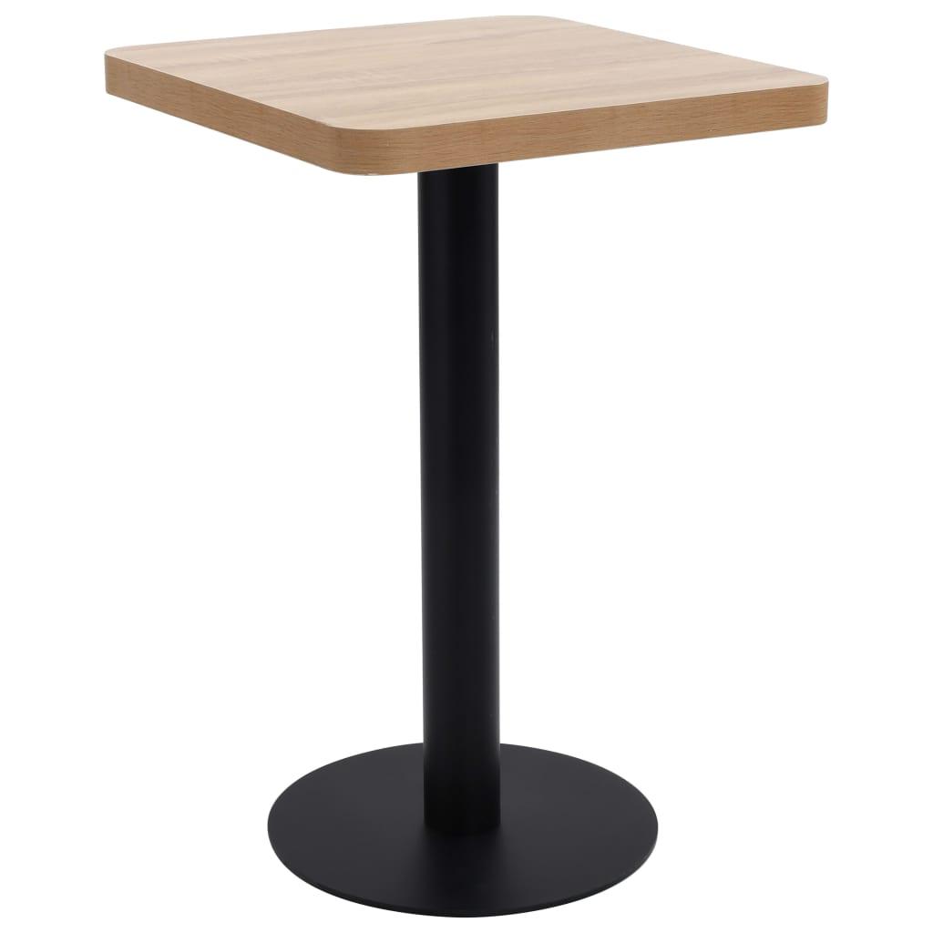 Bistro stolek světle hnědý 50 x 50 cm MDF
