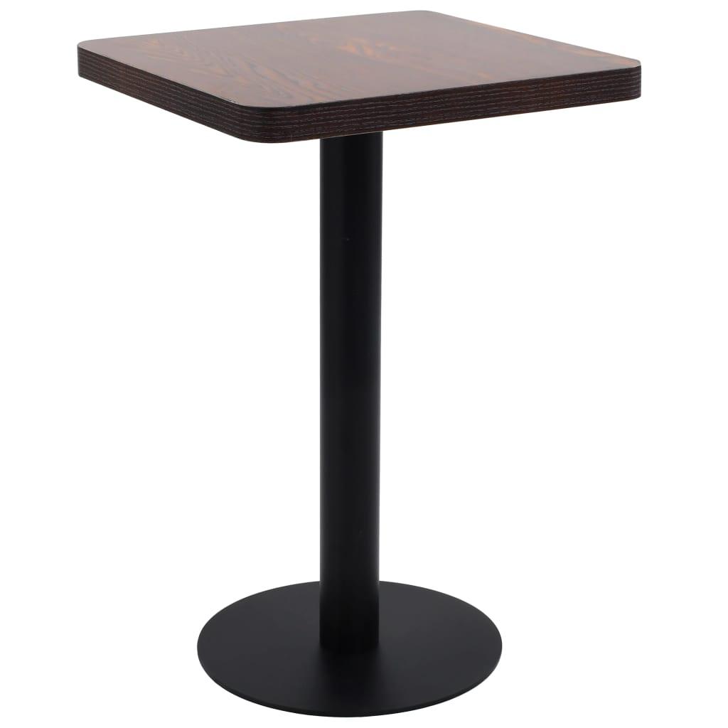 Bistro stolek tmavě hnědý 50 x 50 cm MDF