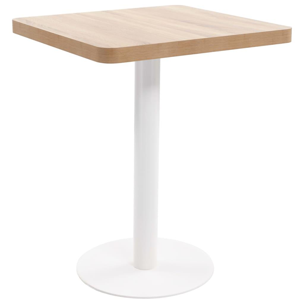 Bistro stolek světle hnědý 60 x 60 cm MDF