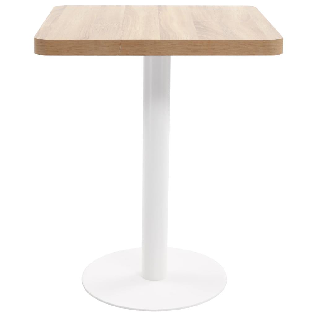 Bistrotafel 60x60 cm MDF lichtbruin