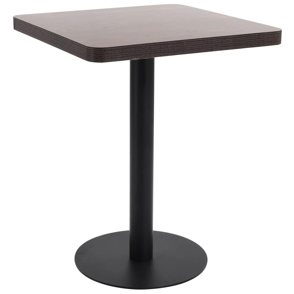 Bistro stolek tmavě hnědý 60 x 60 cm MDF