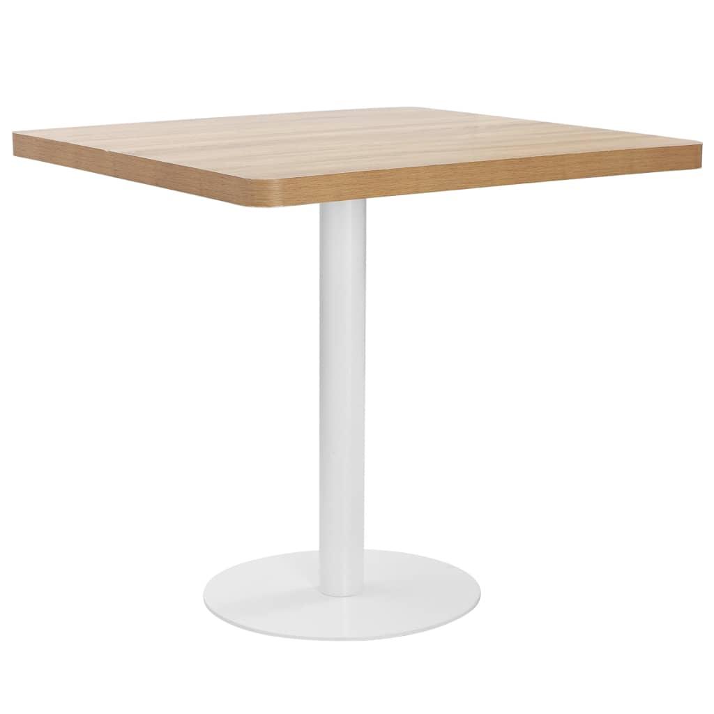 Bistro stolek světle hnědý 80 x 80 cm MDF