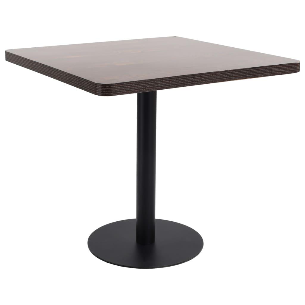 Bistro stolek tmavě hnědý 80 x 80 cm MDF