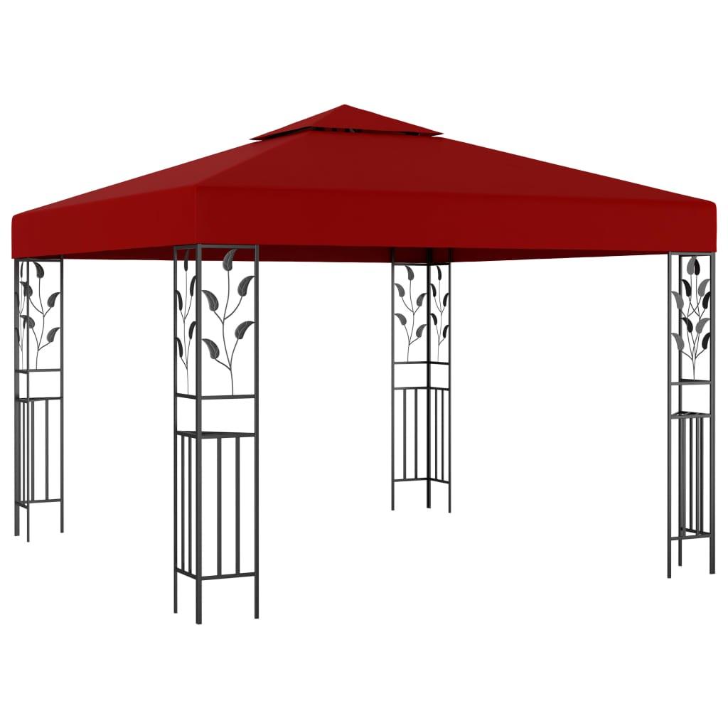 vidaXL Pavilion, roșu vin, 3 x 3 m poza vidaxl.ro