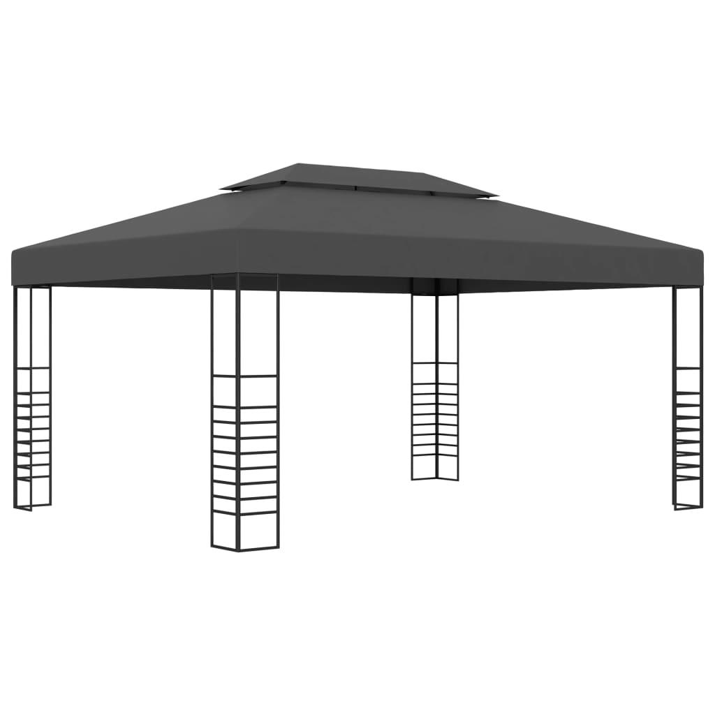 vidaXL Pavilion, antracit, 3 x 4 m imagine vidaxl.ro