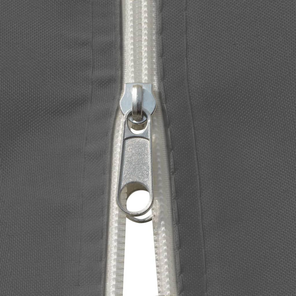 vidaXL Tuinpaviljoen met gordijnen 4x3 m antraciet