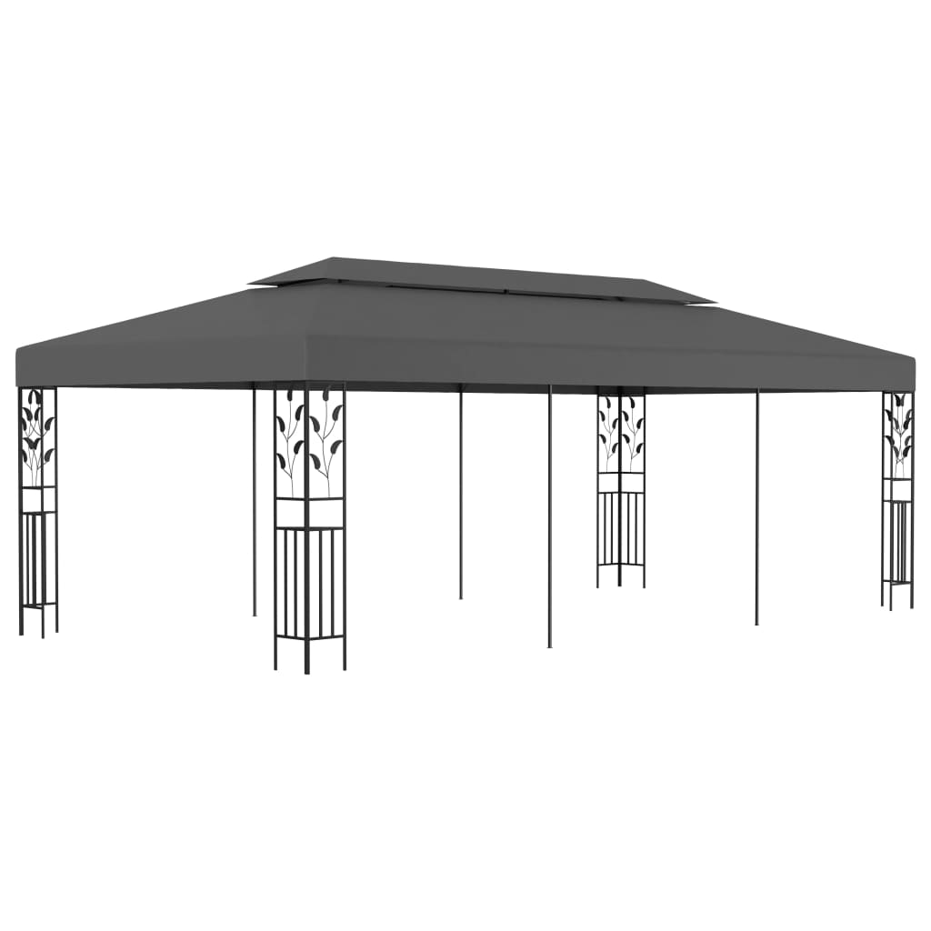 vidaXL Pavilion, antracit, 3 x 6 m poza vidaxl.ro