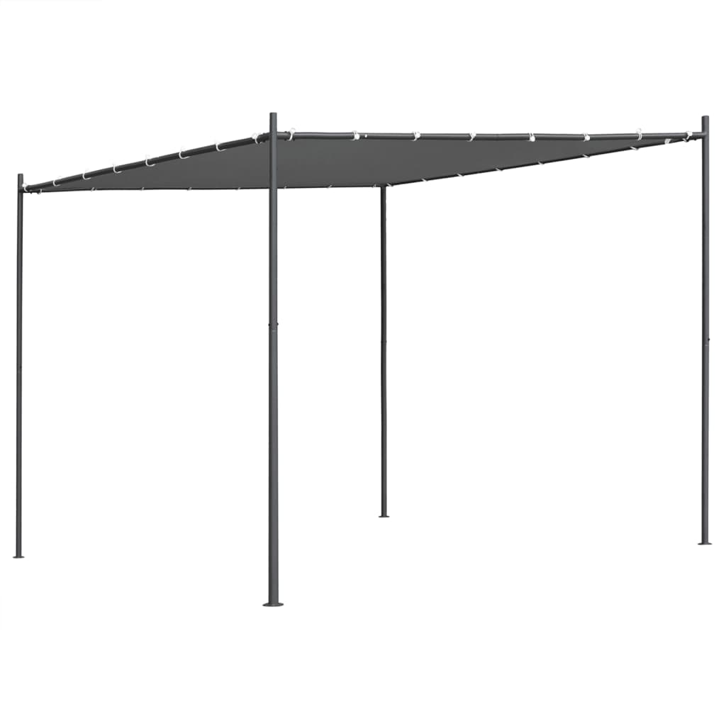vidaXL Pavilion cu acoperiș plat, antracit, 3 x 3 x 2,4 m poza 2021 vidaXL