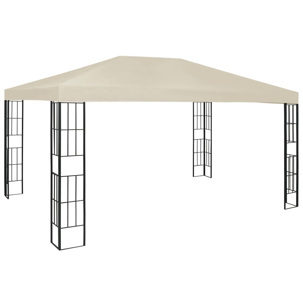 vidaXL Pavilion, crem, 3 x 4 m imagine vidaxl.ro