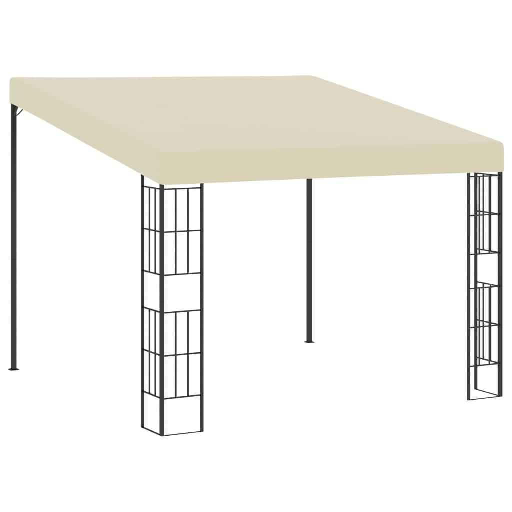 vidaXL Pavilion de perete, crem, 3 x 3 m, material textil poza vidaxl.ro