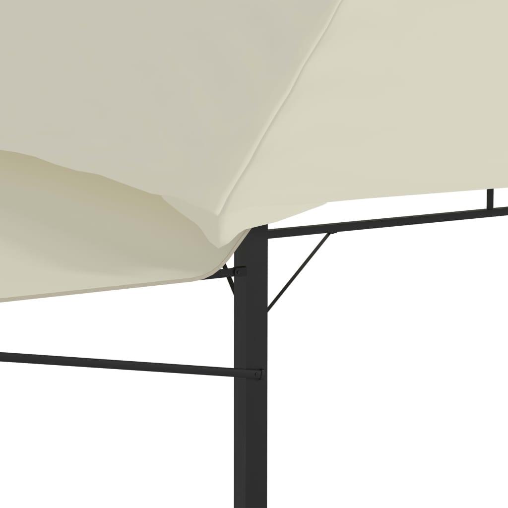 Prieel met uitschuifbare daken 180 g/m² 3x3x2,75 m crème