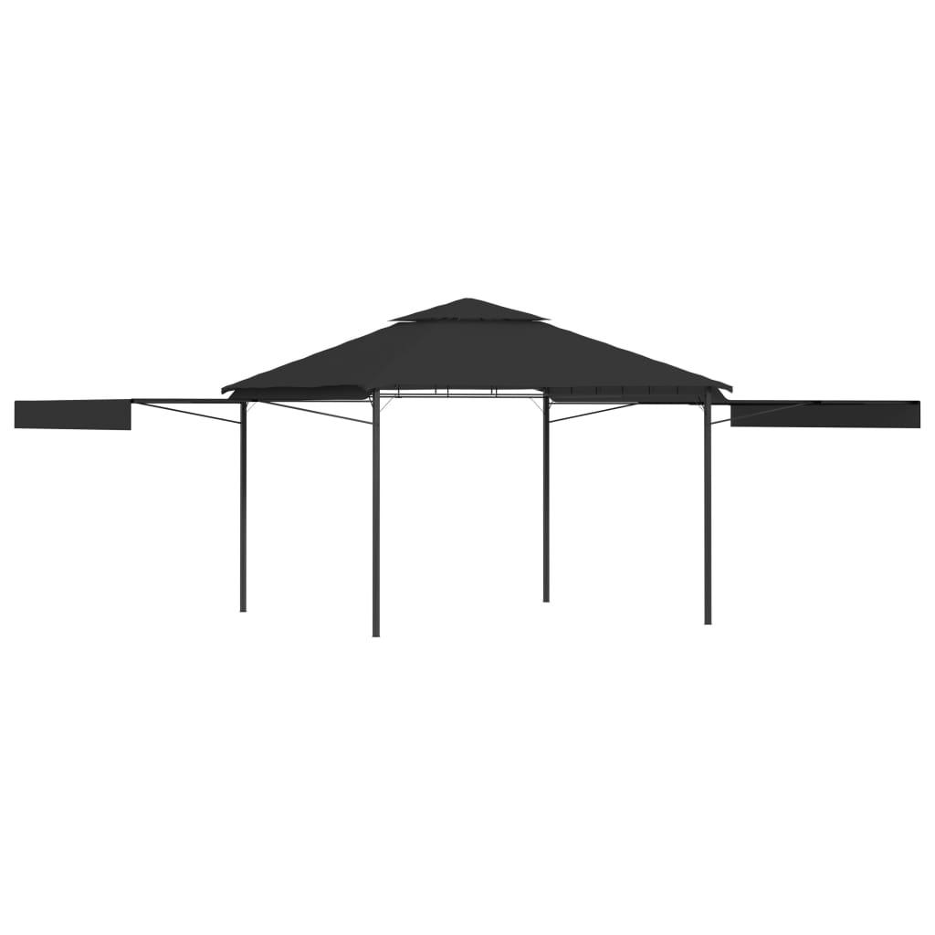 vidaXL Pavilion cu acoperiș dublu extins 3x3x2,75 m antracit 180 g/m² poza 2021 vidaXL