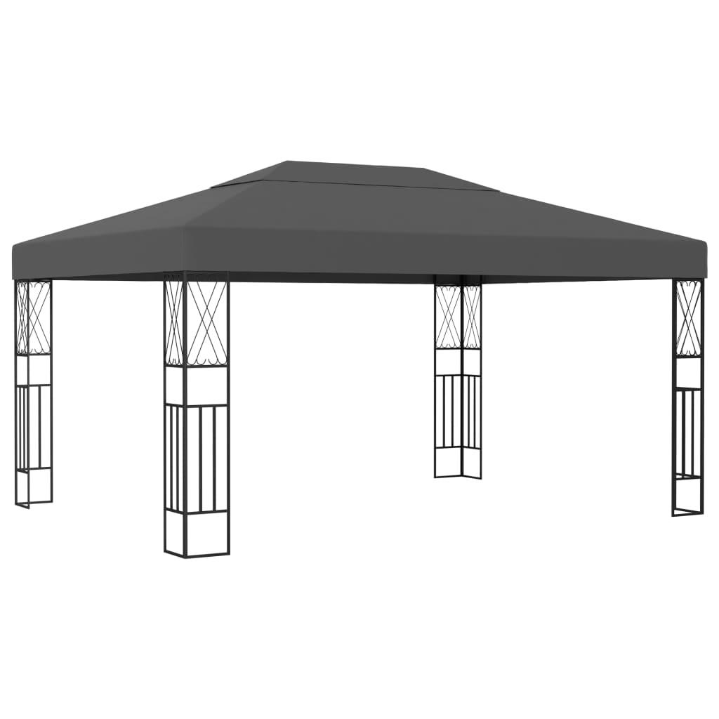 vidaXL Pavilion, antracit, 3 x 4 m, material textil vidaxl.ro