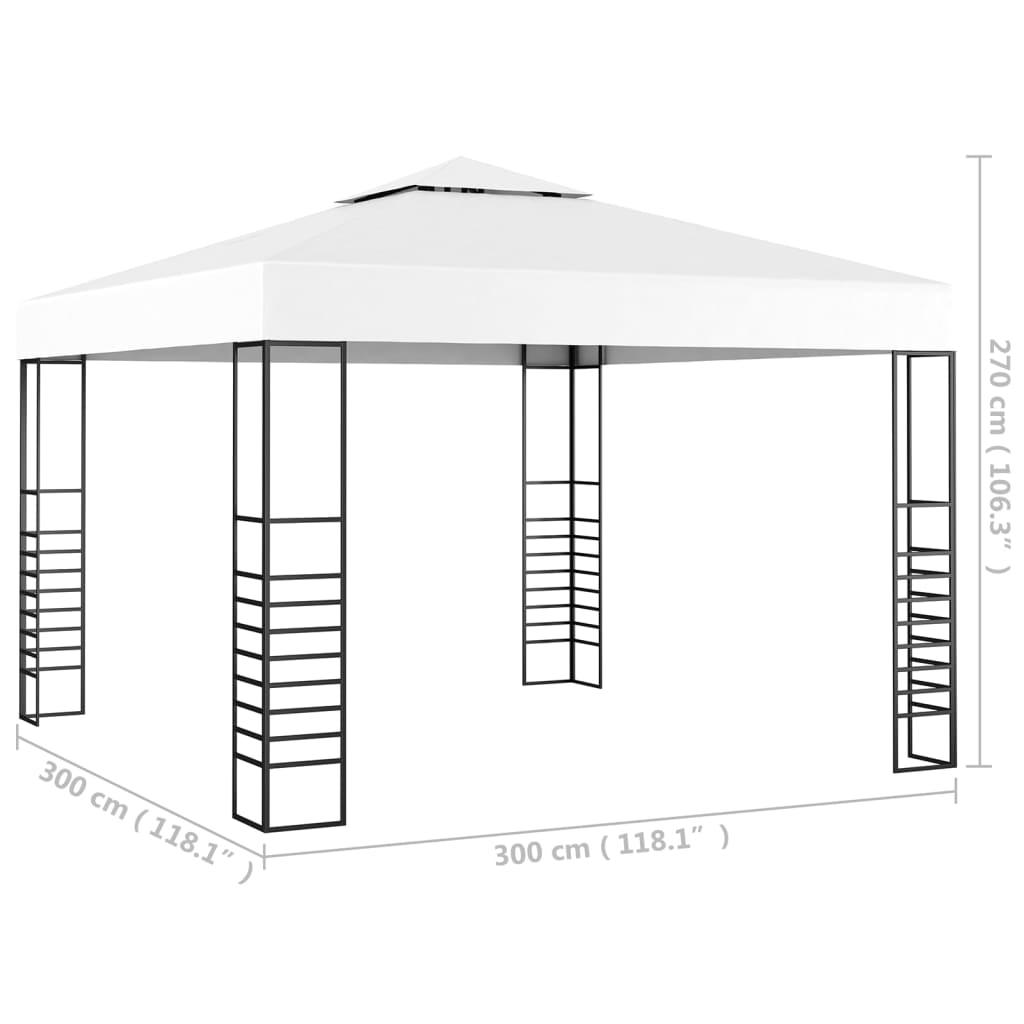 Tuinpaviljoen 3x3 m wit