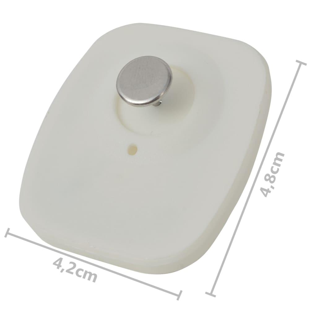 2000 st RF Beveiligingslabels en pinnen 8,2 MHz wit