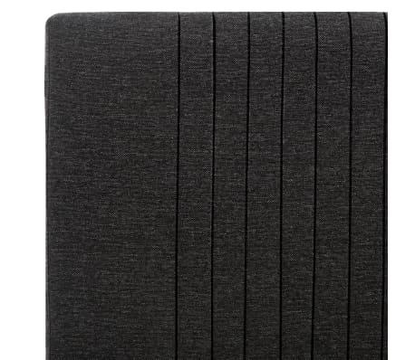 vidaXL Cadre de lit Gris foncé Tissu 90 x 200 cm[6/7]
