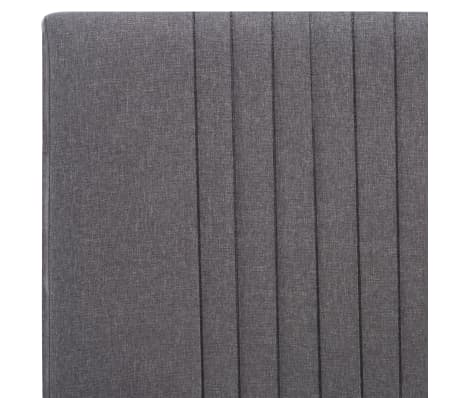 vidaXL Cadre de lit Gris clair Tissu 120 x 200 cm[6/7]