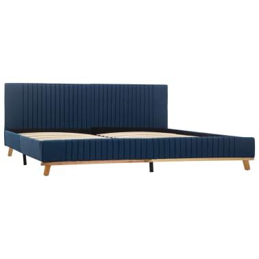 vidaXL Cadre de lit Bleu Tissu 180 x 200 cm[2/7]