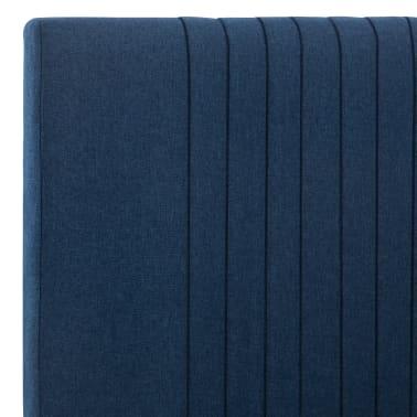 vidaXL Cadre de lit Bleu Tissu 180 x 200 cm[6/7]