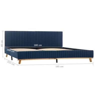 vidaXL Cadre de lit Bleu Tissu 180 x 200 cm[7/7]