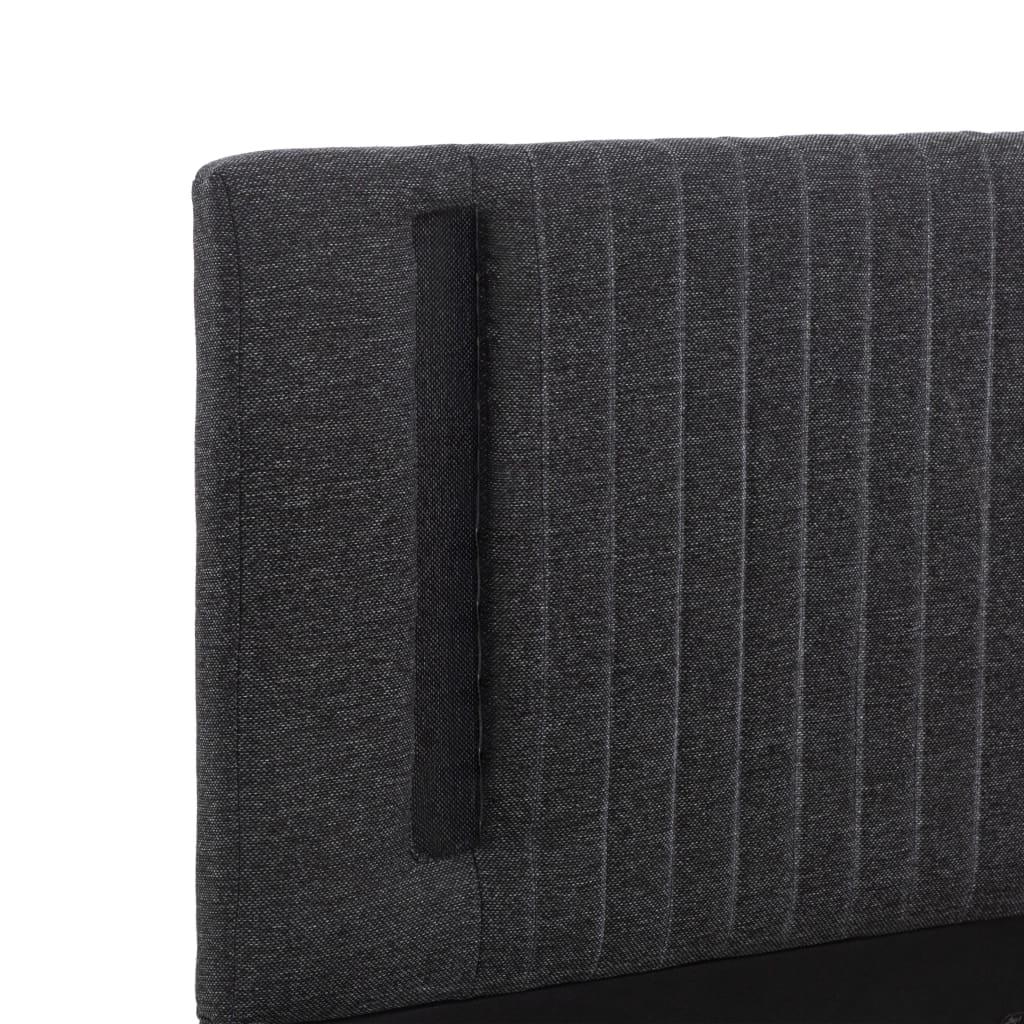 vidaXL Bedframe met LED stof donkergrijs 140x200 cm