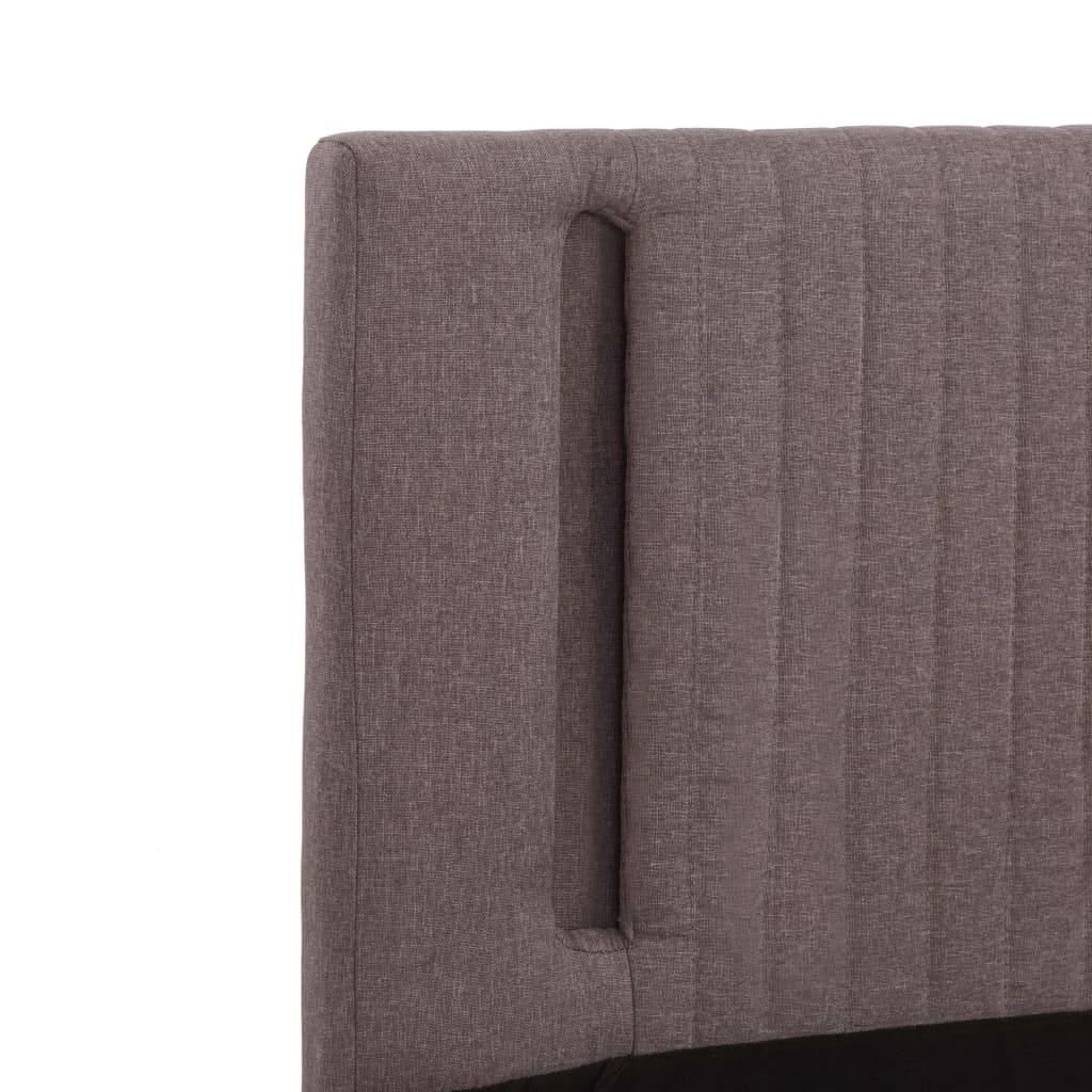 vidaXL Bedframe met LED stof taupe 100x200 cm