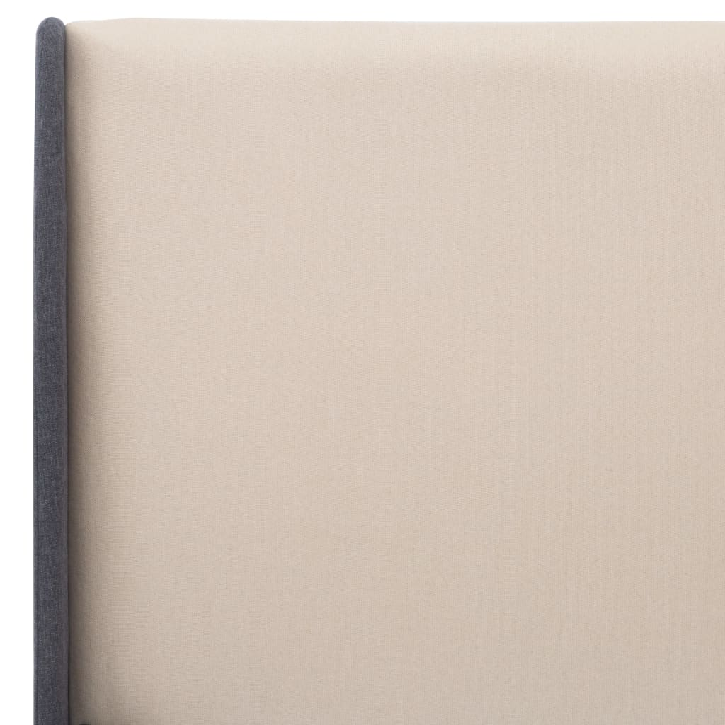 vidaXL Bedframe stof crème 120x200 cm