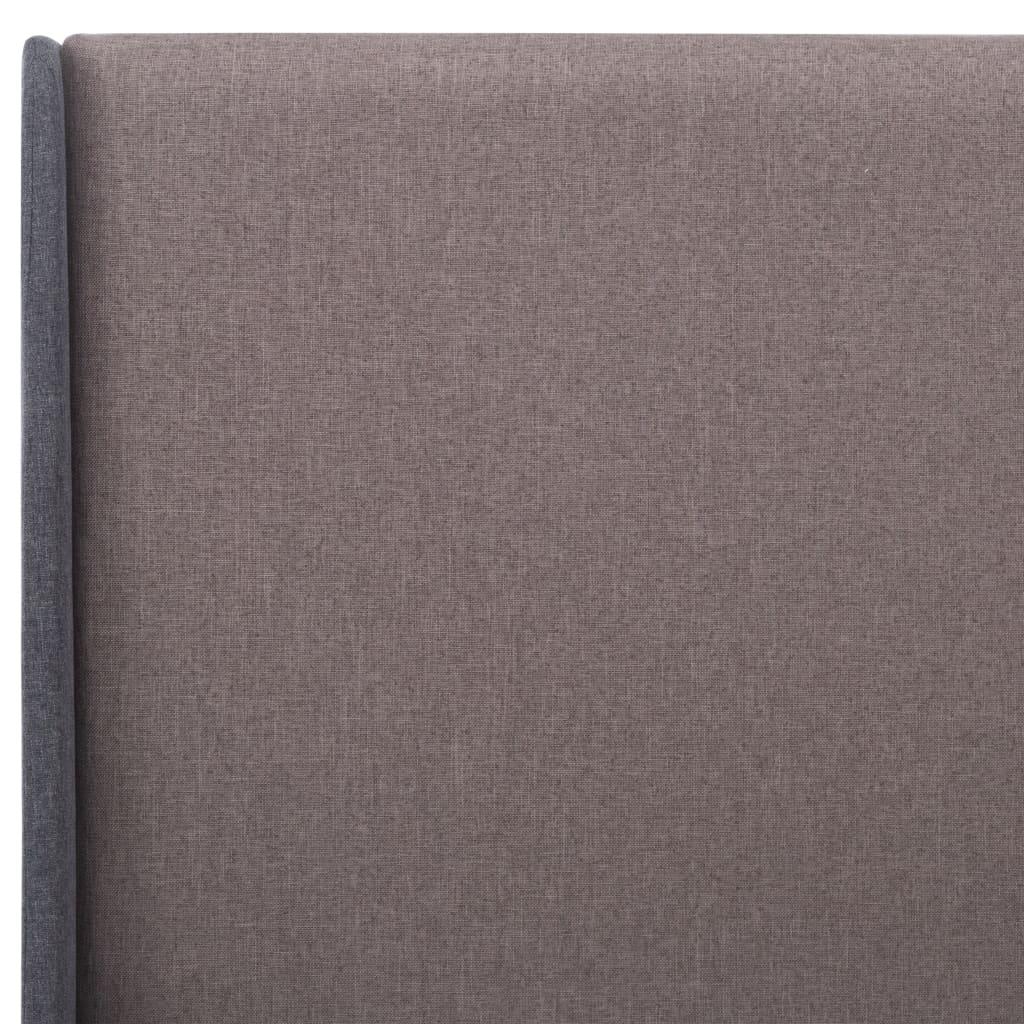 vidaXL Bedframe stof taupe 140x200 cm