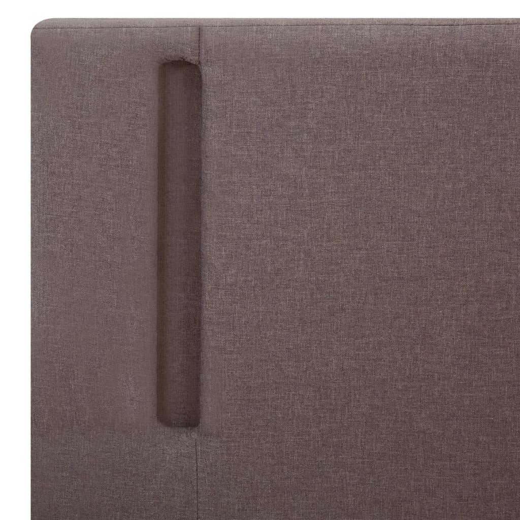 vidaXL Bedframe met LED stof taupe en donkergrijs 160x200 cm