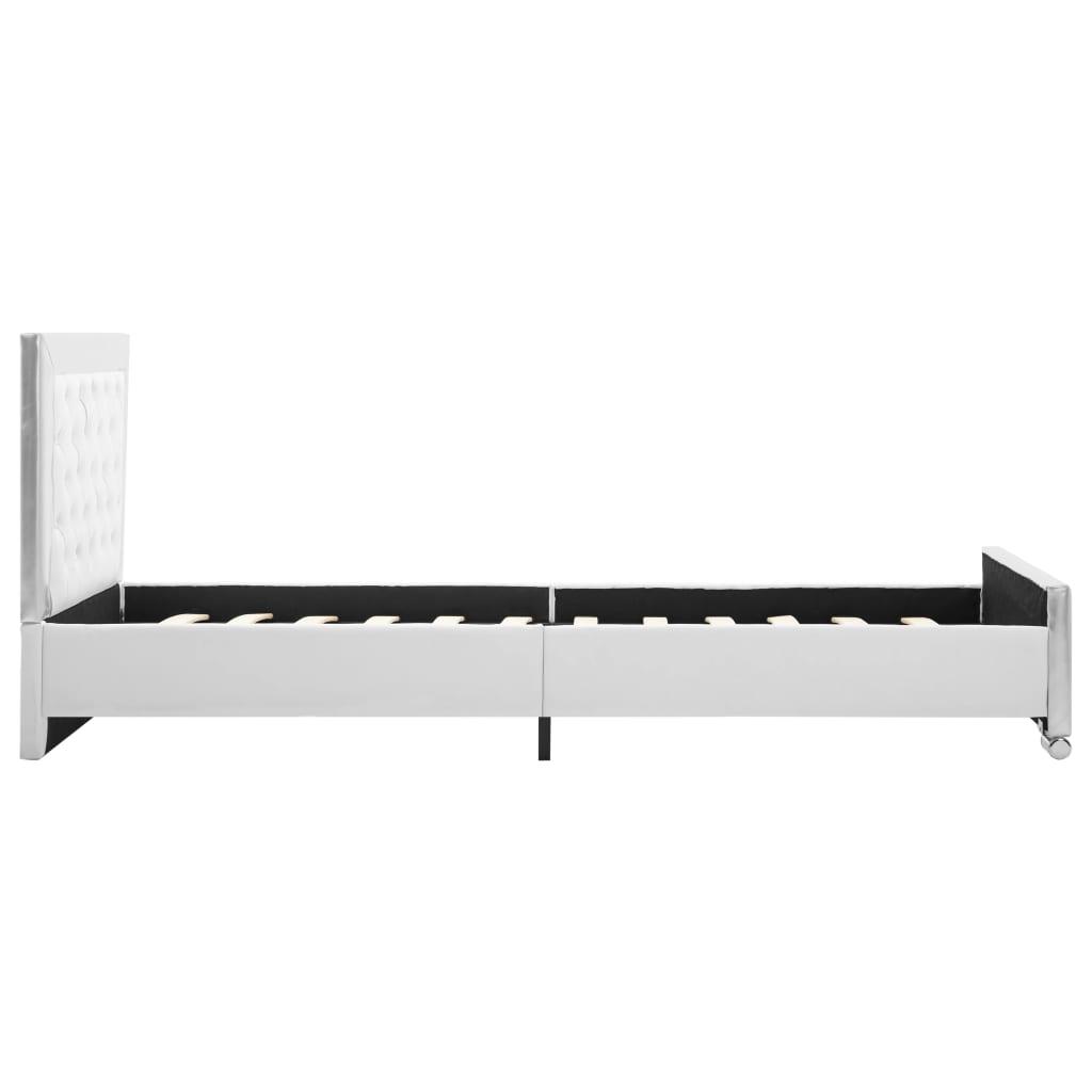 Bedframe kunstleer wit 90x200 cm