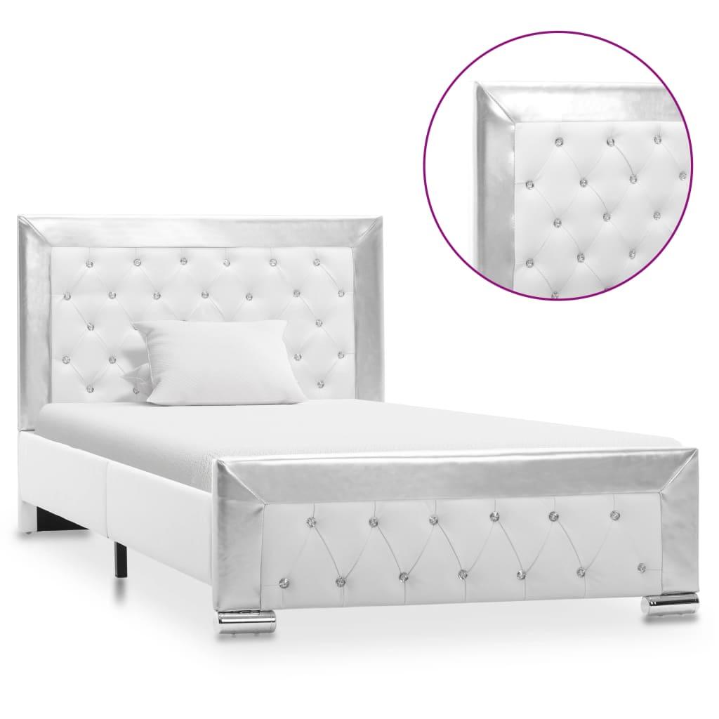 vidaXL sengestel 100×200 cm kunstlæder hvid