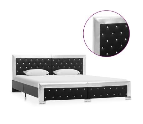 vidaXL Cadru de pat, negru, 180 x 200 cm, piele artificială
