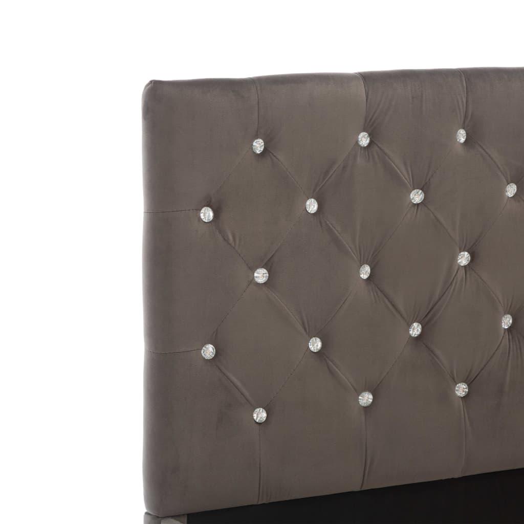 vidaXL Bedframe stof grijs 160x200 cm
