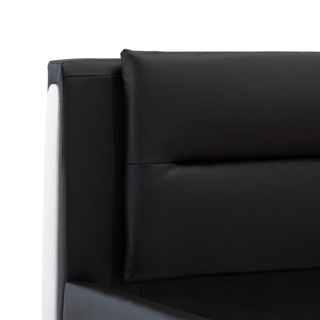vidaXL Bedframe kunstleer zwart 160x200 cm