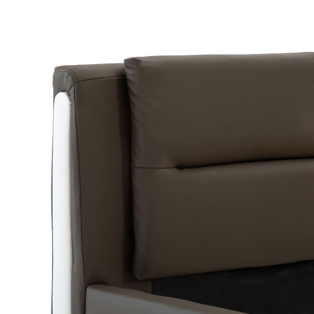vidaXL Bedframe kunstleer grijs 140x200 cm