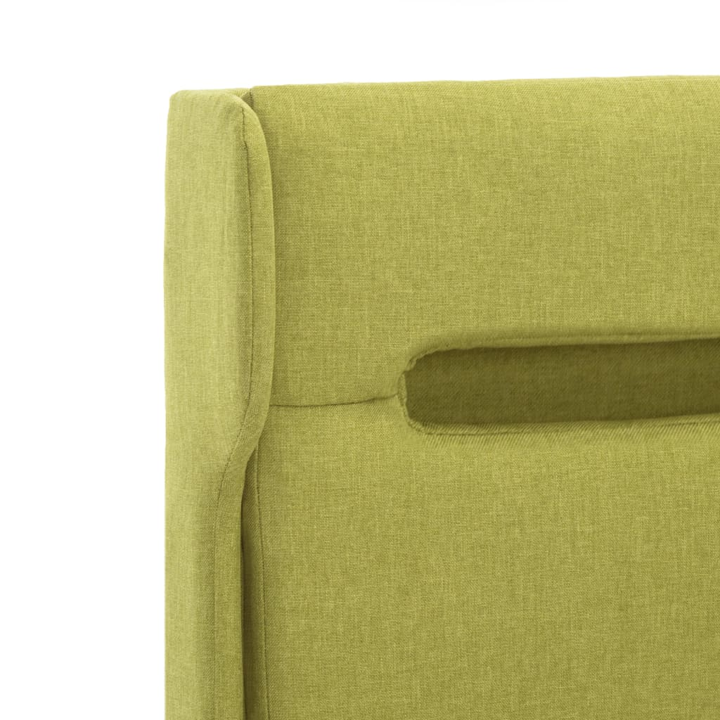 vidaXL Bedframe met LED stof groen 90x200 cm