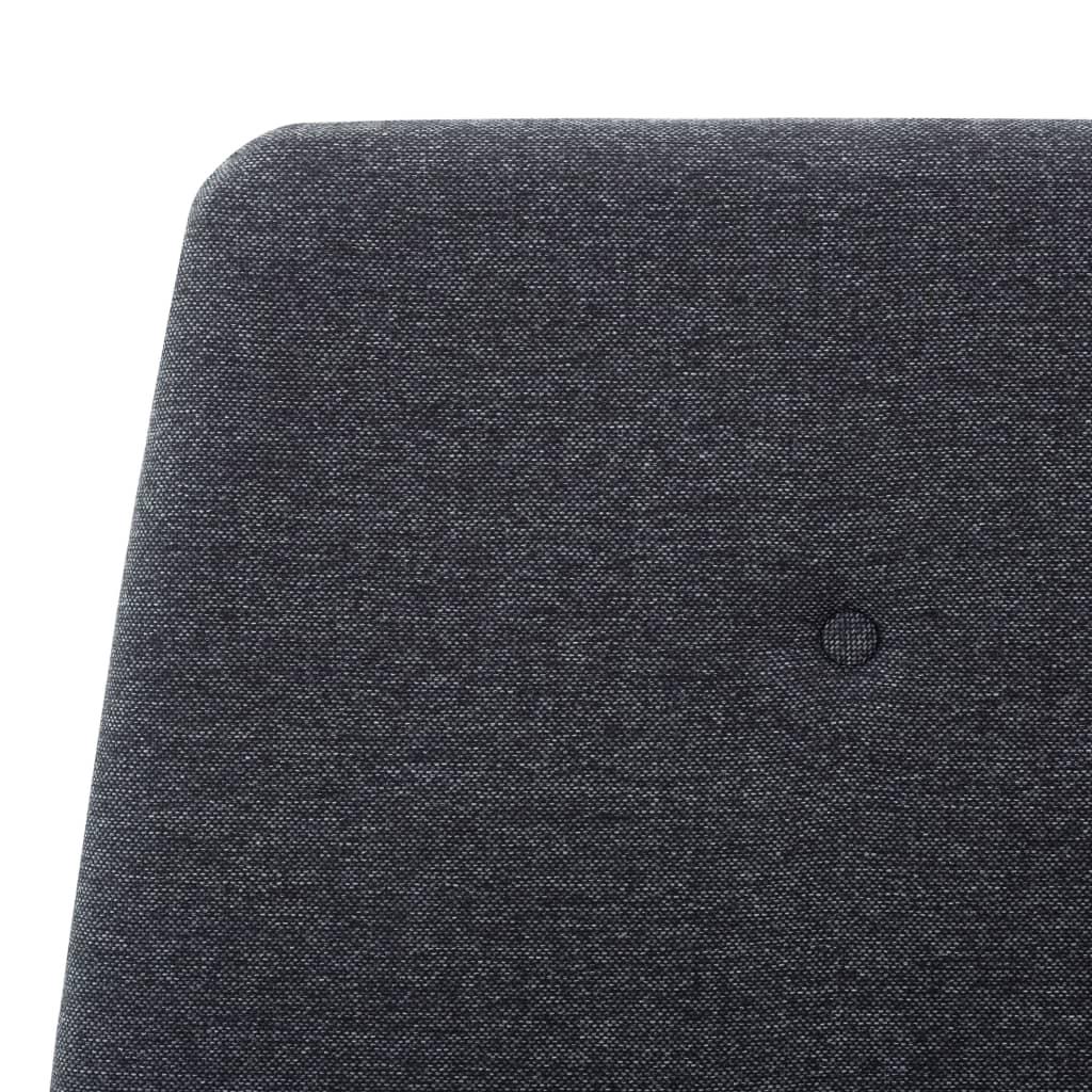 vidaXL Bedframe stof donkergrijs 100x200 cm