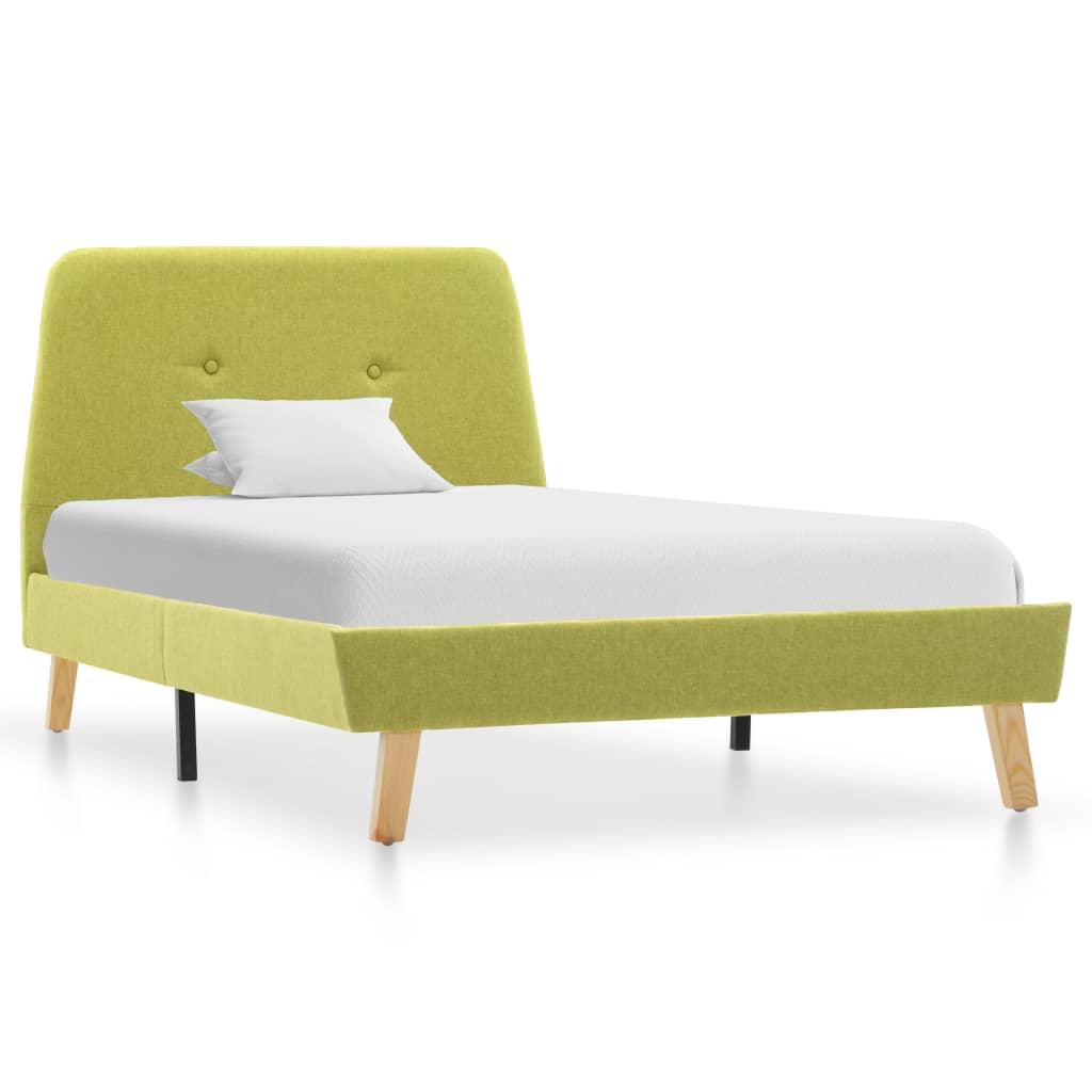 vidaXL Bedframe stof groen 100x200 cm