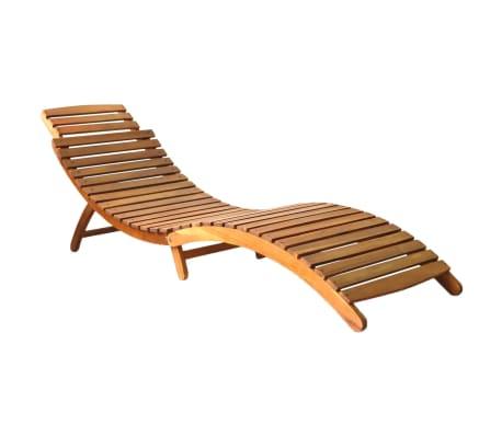 vidaXL Șezlong, maro, lemn masiv de acacia