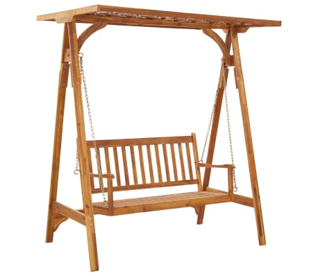 vidaXL Garden Swing Bench with Trellis Solid Acacia Wood