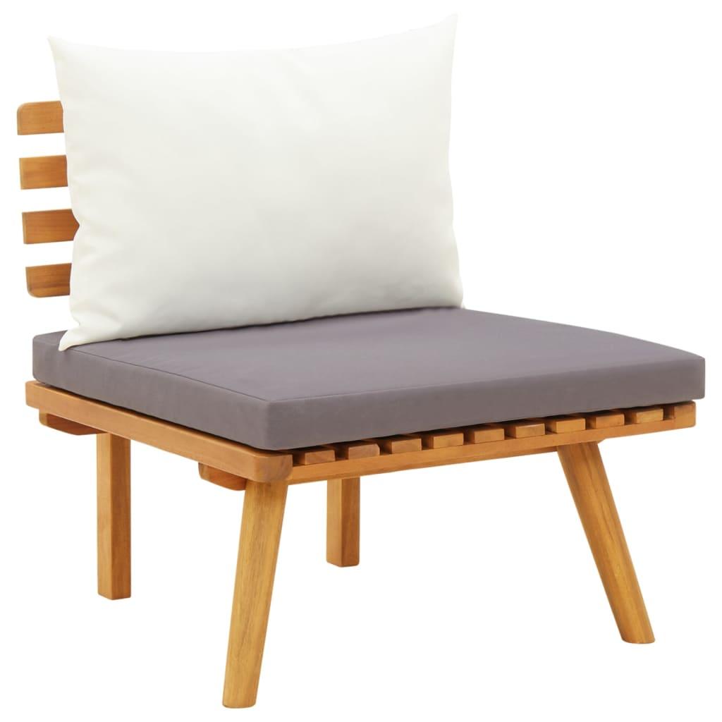 vidaXL Καρέκλα Κήπου από Μασίφ Ξύλο Ακακίας με Μαξιλάρια