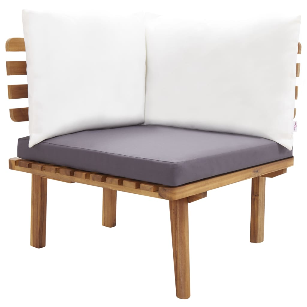 vidaXL 5-delige Loungeset massief acaciahout