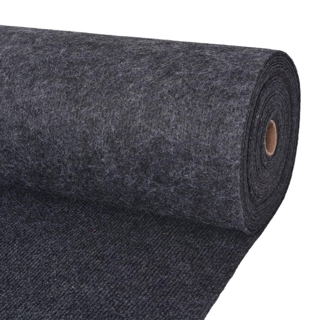 vidaXL Výstavářský koberec vroubkovaný 1,6 x 15 m antracitový