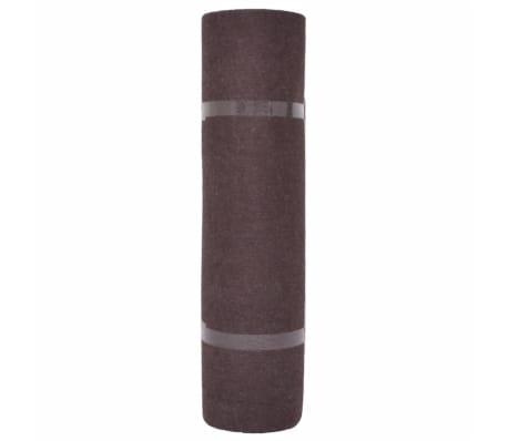 vidaXL Tapis strié pour exposition 1,6x10 m Marron[2/3]